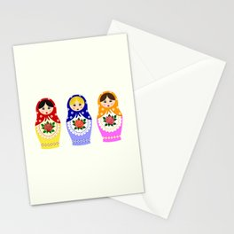 Russian matryoshka nesting dolls Stationery Cards