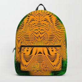 Camel Man (psychedelic, op art, halftone, abstract) Backpack