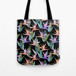 Birdie Tropical Black Tote Bag