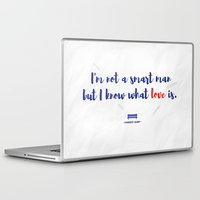 forrest gump Laptop & iPad Skins featuring Forrest Gump knows what love is by POP Collective