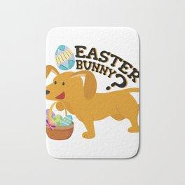 Dachshund Easter Funny For Boys Girls Love Dog Puppy Bath Mat