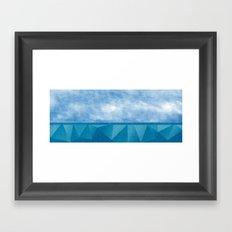 Geometric Sea Framed Art Print