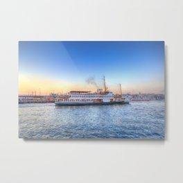 Pleasure Cruise Boat Istanbul Metal Print