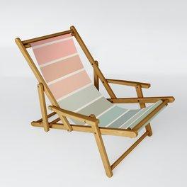 70s Stripe - pastel pink and mint, spring, pink stripes, desert, boho, dorm decor Sling Chair