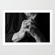 Old Woman Art Print