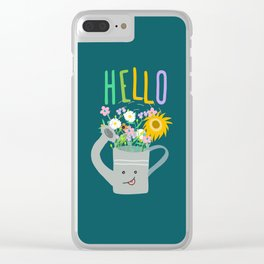 Happy Day- Watering Can Clear iPhone Case