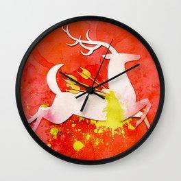 Huntsman's Stag Wall Clock