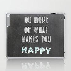 Quote, inspiration chalk board  Laptop & iPad Skin