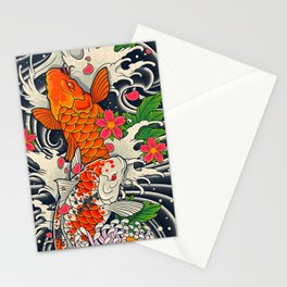 Art of Koi Fish Leggings Stationery Cards