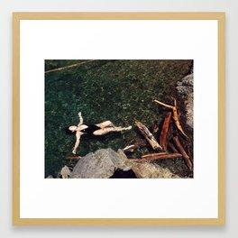 Log Parallels Framed Art Print