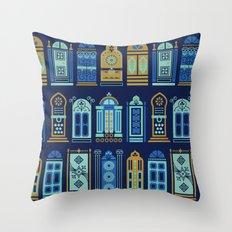 Moroccan Doors – Navy Palette Throw Pillow