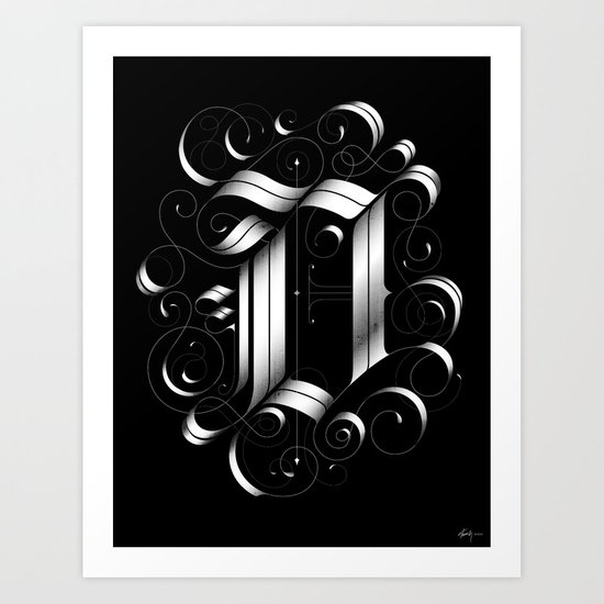 "Drop cap ""D"" Art Print"