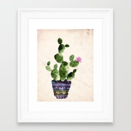 Blooming Cactus Framed Art Print