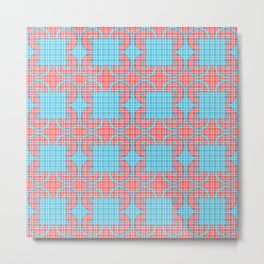 Blue Squares Pattern Metal Print