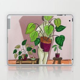boys with love for plants illustration painting Laptop & iPad Skin