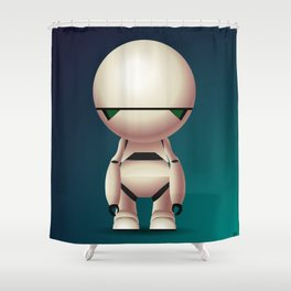 Marvin the Paranoid Android Shower Curtain