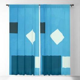 Summer Mid Century Modern Geometric Abstract zen_084 Blackout Curtain