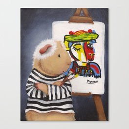 Pablo Pigcasso Canvas Print