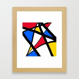 Red, Yellow, Blue Primary Abstract Framed Art Print