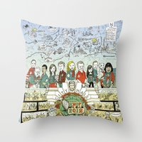 parks and recreation Throw Pillows featuring Leslie Knope for City Council - Parks and Recreation Dept. by Jasey Crowl