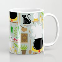 lab Mugs featuring Witch's lab by Ana Linea