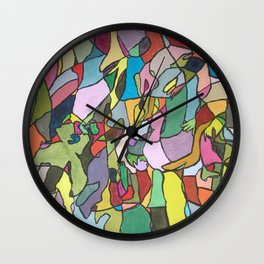 Color Abstract Wall Clock