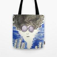 hippie Tote Bags featuring Hippie by ArtAngel