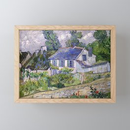 Vincent Van Gogh Houses At Auvers Framed Mini Art Print