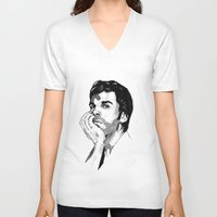 dexter V-neck T-shirts featuring Dexter by Giorgia Ruggeri