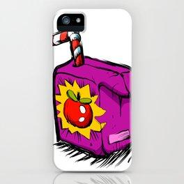 Smiling apple juice box . iPhone Case