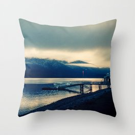 Lake Te Anau Throw Pillow