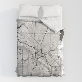Dallas Map Gray Comforters