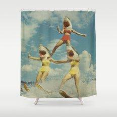 On Evil Beach Shower Curtain