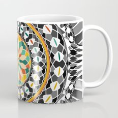 High contrast mandala Mug