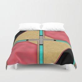 Quad - Geometric Art Deco Design Duvet Cover