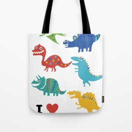 I love dinosaurs Tote Bag
