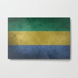 Vintage Grunge flag of Gabon Metal Print