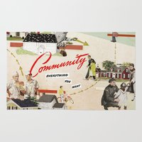 community Area & Throw Rugs featuring Community by Heather Landis
