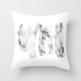 Marble stains Throw Pillow