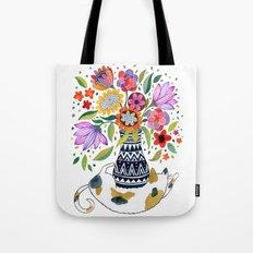 Calico Bouquet Tote Bag