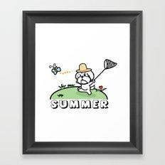 It is summer Framed Art Print