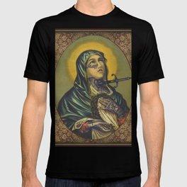Tattooed Mary holding Jesus T-shirt