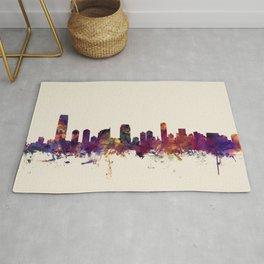 Jersey City New Jersey Skyline Rug