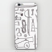 kit king iPhone & iPod Skins featuring Pirate's Kit by cotey bucket