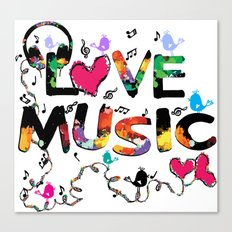 LOVE MUSIC Canvas Print