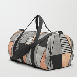 Concrete and Copper Triangles Duffle Bag