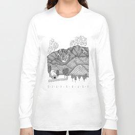 Zentangle Sugarbush, Vermont Long Sleeve T-shirt