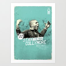 Nottingham Forest Legends Series: Stan Collymore Graphic Poster Art Print