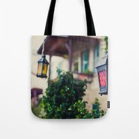 lanterns Tote Bags featuring lanterns by De's Fantastical Creations