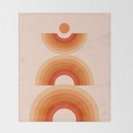 Abstraction_SUN_Rainbow_Minimalism_008 Throw Blanket